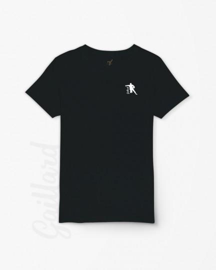 T-shirt rugby noir Gaillard (enfant)