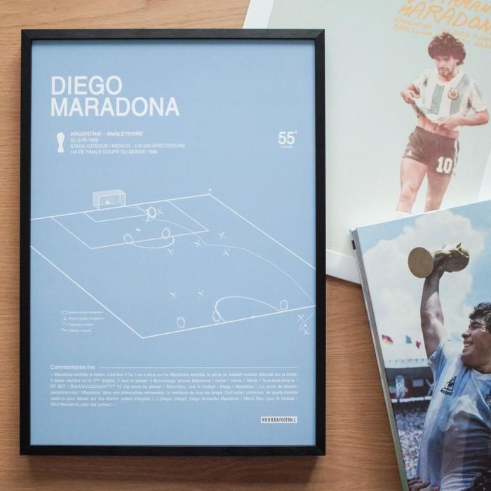 "Affiche ""But Maradona 1986"""