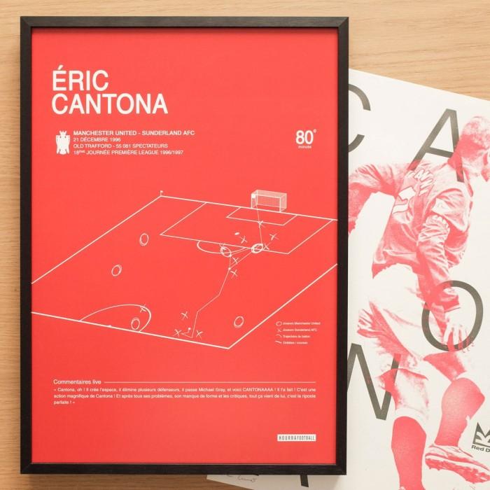 "Affiche ""But Cantona 1996"""