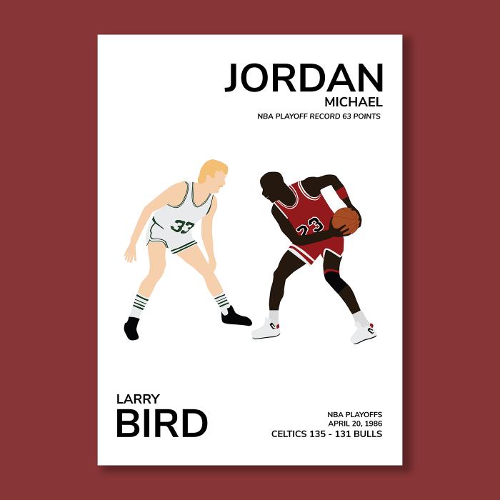 Affiche Bird vs Jordan
