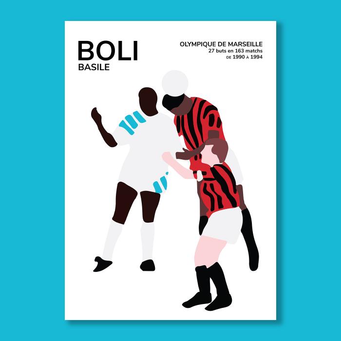 Affiche Foot Basile Boli