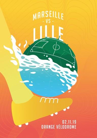 Affiche Officielle OM / LILLE (2019/2020)