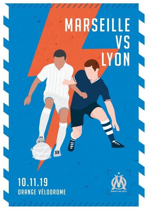 Affiche Officielle OM / LYON (2019/2020)