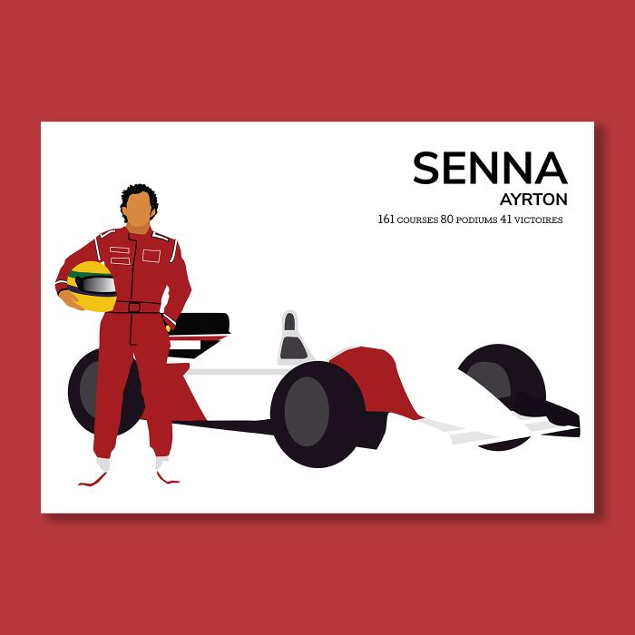 Affiche Automobile  Senna Ayrton