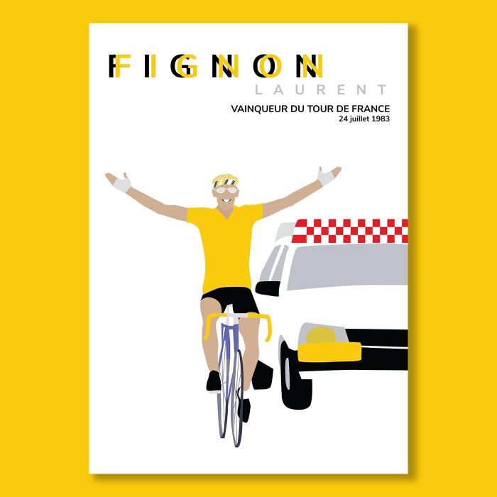 Affiche Cyclisme Laurent Fignon