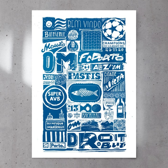 Affiche Officielle OM / Porto