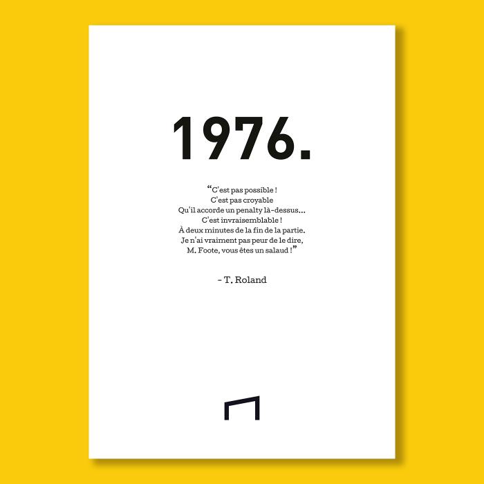 Affiche Citation - T. Roland 1976