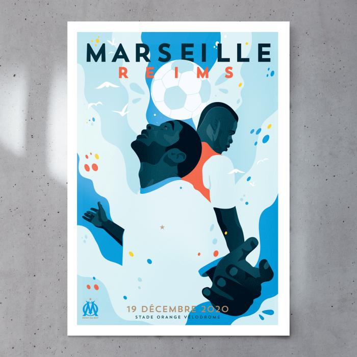 Affiche Match Officielle OM / Stade de Reims