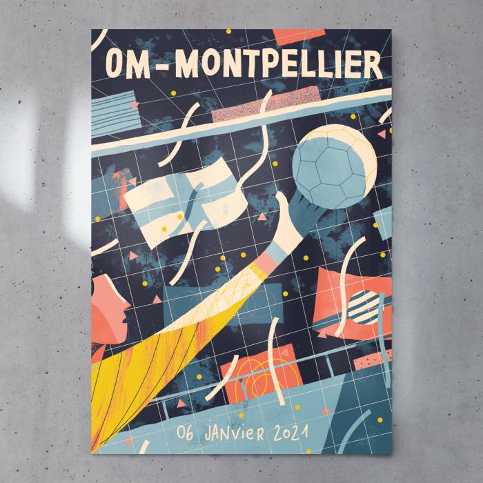 Affiche Match Officielle OM / MONTPELLIER