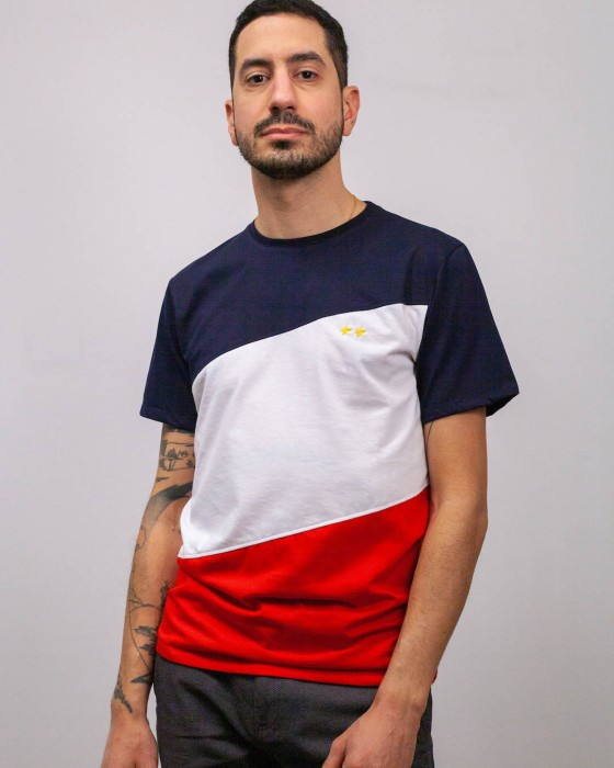 T-shirt Foot Tricolore