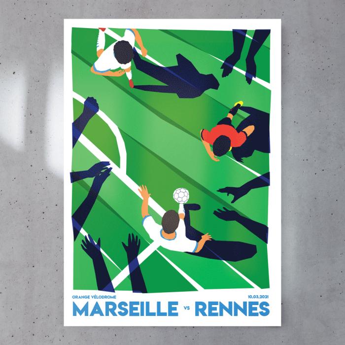 Affiche Match Foot OM / Stade Rennais