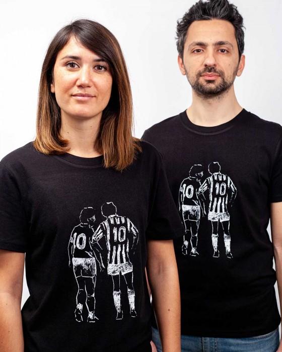 T-shirt Foot Platini vs Maradona