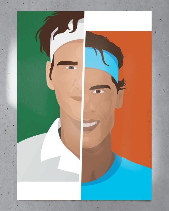Affiche Roger vs Rafa