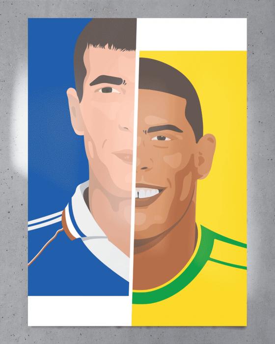 Affiche Zinedine vs Ronaldo