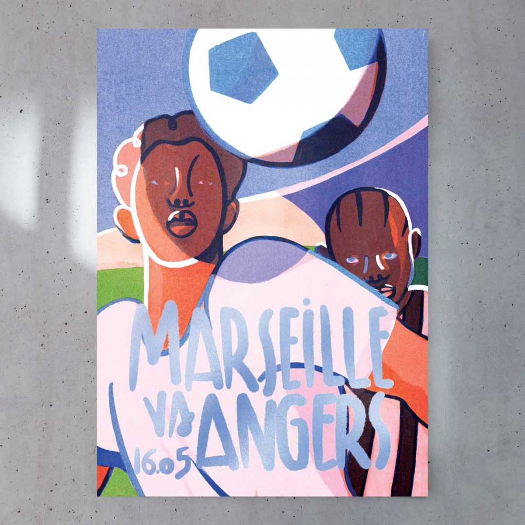 Affiche Officielle OM / ANGERS