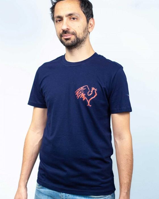 T-shirt Coq Fusain (cœur)