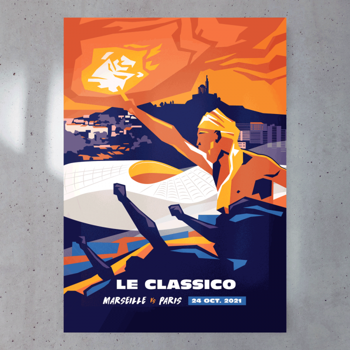 Affiche Officielle OM / PARIS