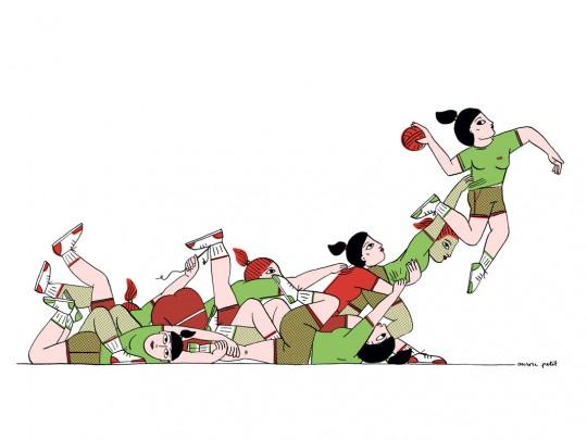 """Affiche """"Handball"""""""