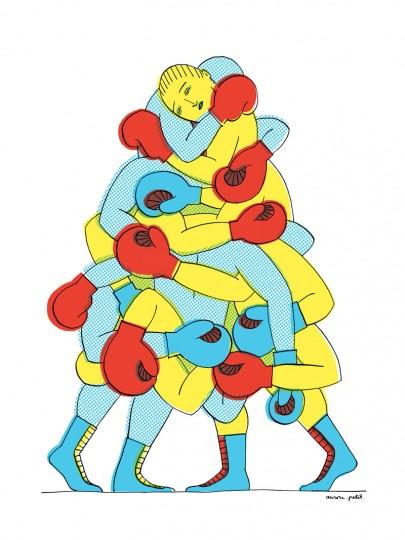 """Affiche """"Boxeurs"""""""