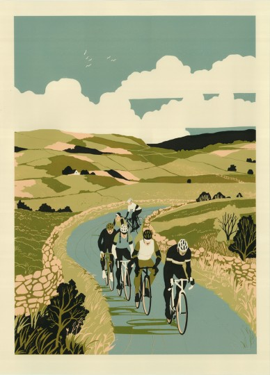 """Sérigraphie """"Uphill & Down Dale"""""""